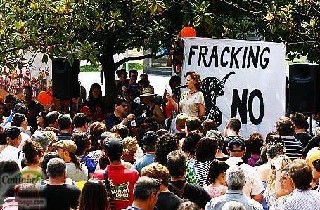 Manifestación contra el fracking (archivo)