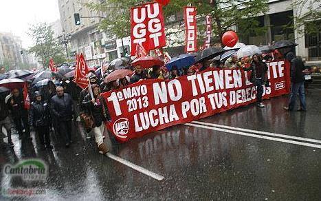 En la imagen de archivo, movilizaciones durante el 1 de mayo