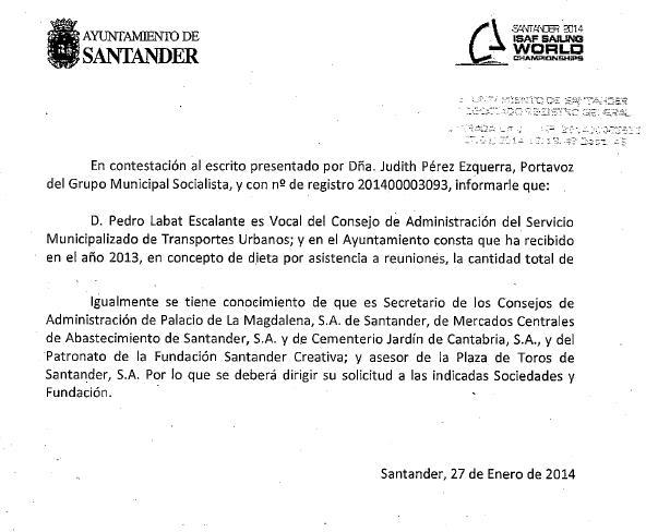 El PP mantiene a Labat en seis Consejos de Administración, según informa el PSOE