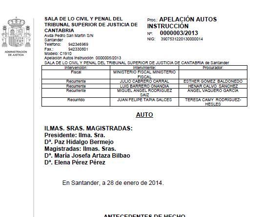 Sigue adelante la imputación del alcalde de Polanco por prevaricación