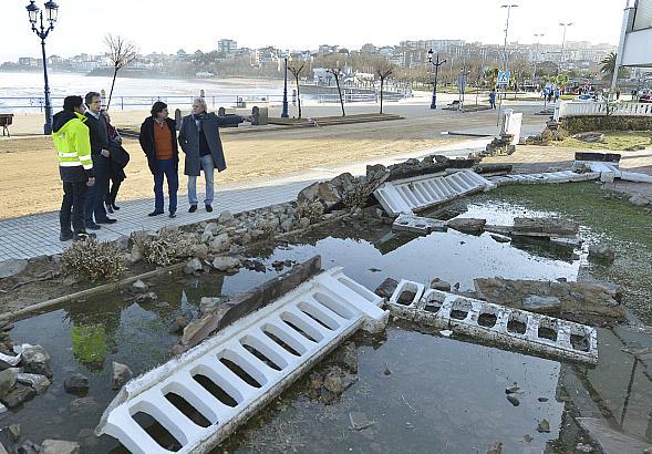 De la Serna visita la zona más afectada por el temporal