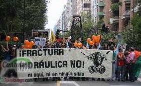 Manifestación contra el 'fracking' (archivo)