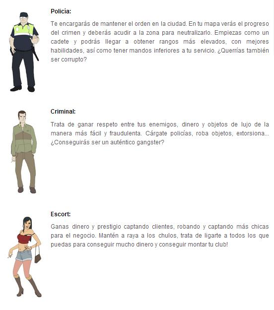 "Diferentes personajes del juego ""Capital Sander"""