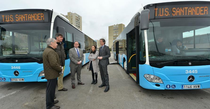 Santander estrena nuevos autobuses con emisiones reducidas