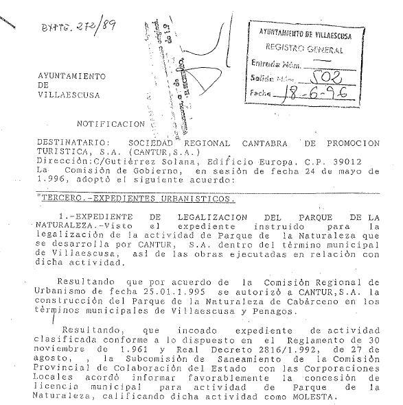 Cabárceno sí tiene licencia, según CANTUR