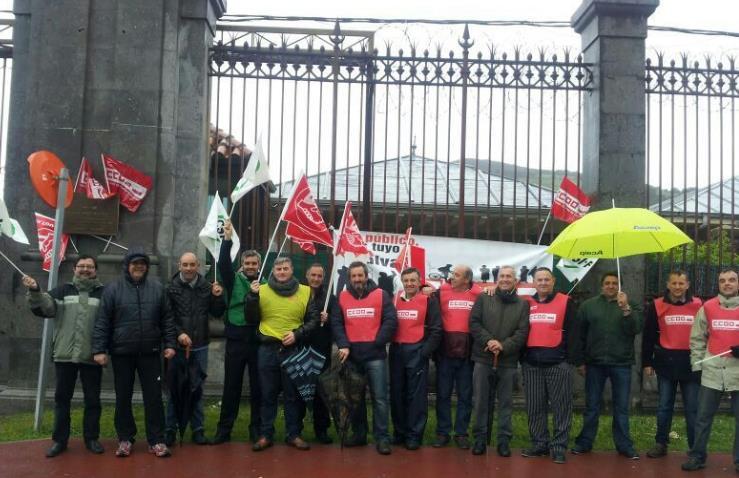 Concentración en El Dueso en defensa de instalaciones penitenciarias públicas