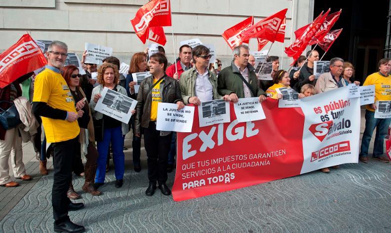 Trabajadores de justicia protestan por la supresión de los Juzgados de Paz