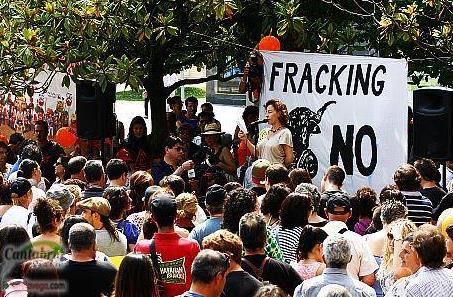 En la imagen de archivo una de las muchas manifestaciones contra el 'fracking'