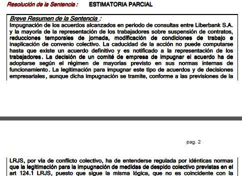 La Audiencia Nacional avala en su mayor parte el ERE aplicado en el Grupo Liberbank