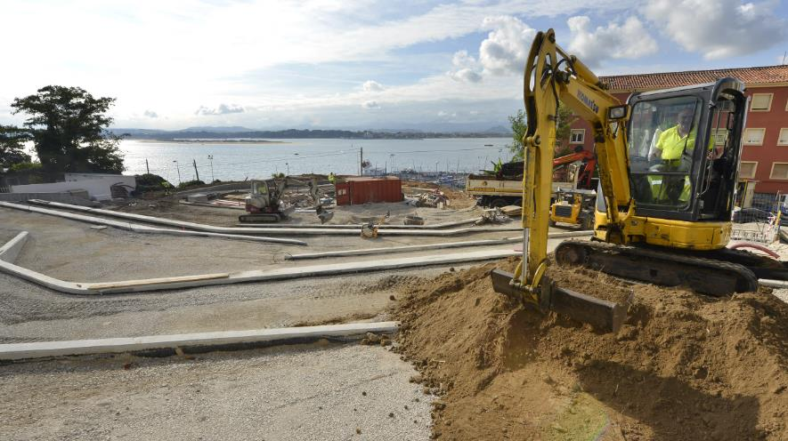 Las obras de remodelación de la plaza de la Bahía, en San Martín, entran en su fase final