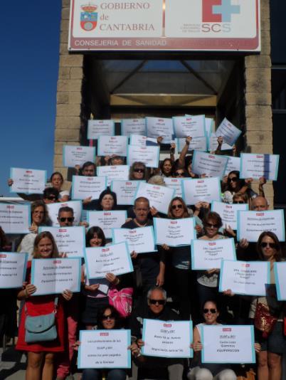 Encerrados por denunciar discriminación salarial en la sanidad, sin comida ni bebida