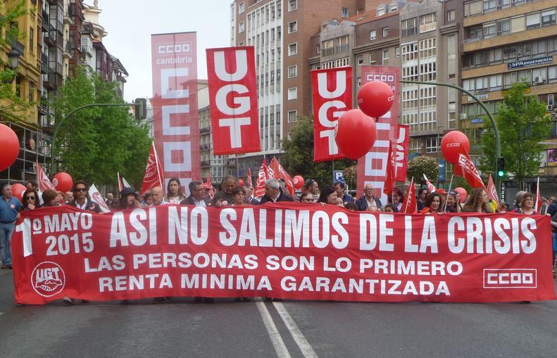 Manifestación del 1 de mayo en Santander