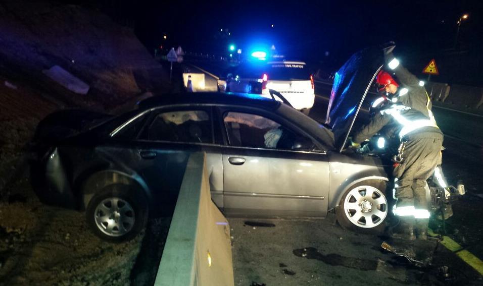 Accidente de tráfico en Sarón / Foto: 112
