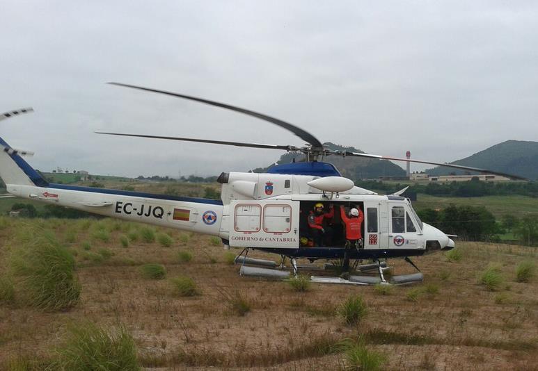 Helicóptero de rescate del 112 Cantabria