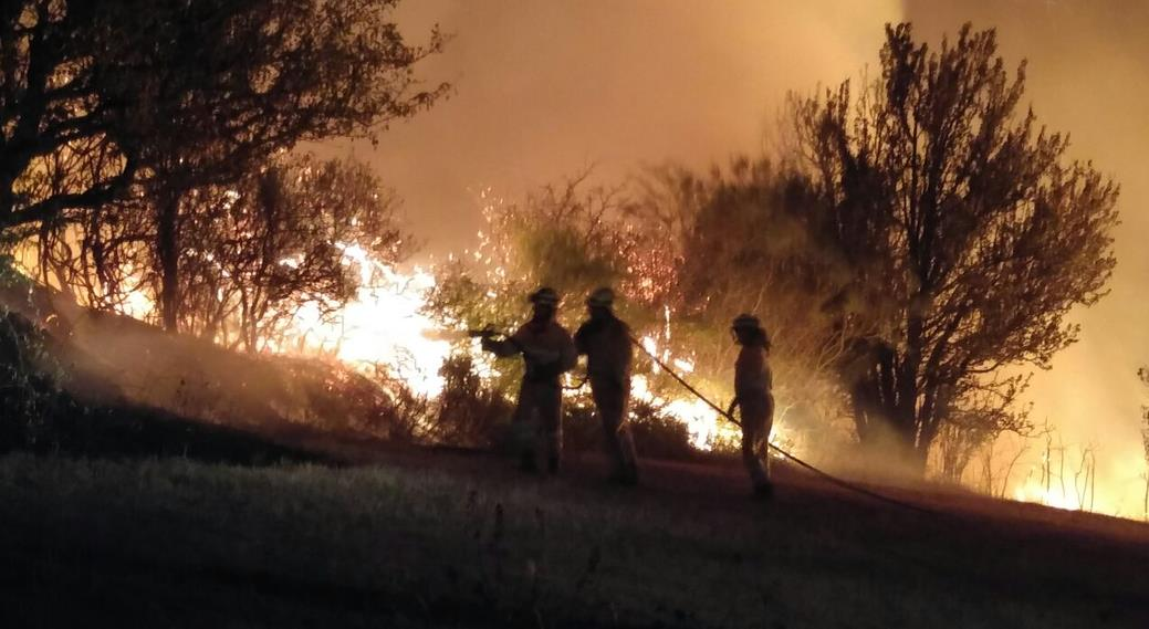 El incendio ayer por la noche