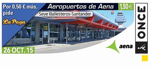 La ONCE dedicará un cupón al Aeropuerto Seve Ballesteros-Santander