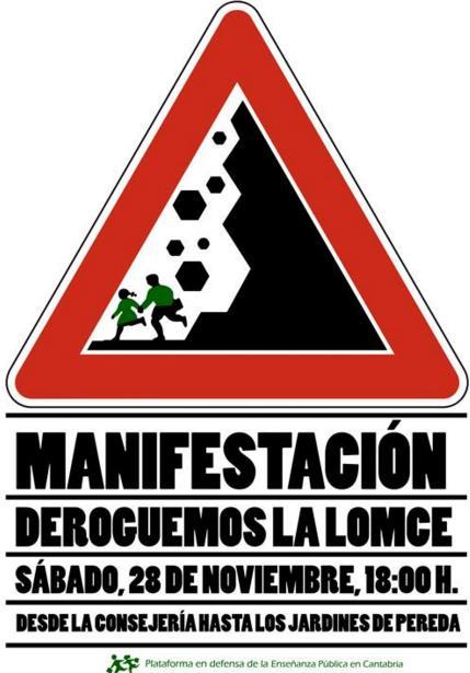 Manifestación en Santander para derogar la LOMCE