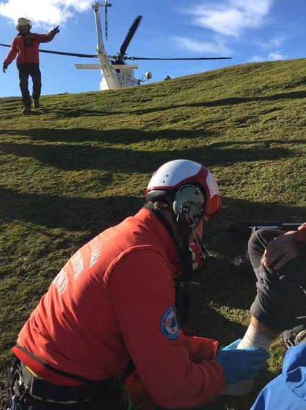 Rescatado un senderista en el Collado de Valdecoro