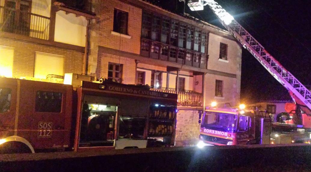 Extinguido un incendio en una vivienda de Bárcena de Pie de Concha