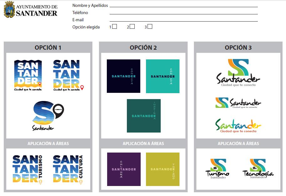 Tres propuestas de logotipo para la nueva imagen de marca turística de Santander