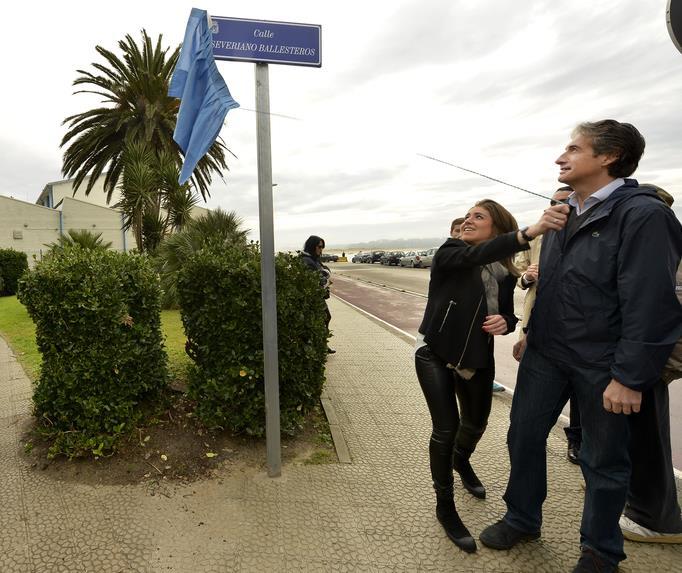 Inaugurada la calle en homenaje a Severiano Ballesteros