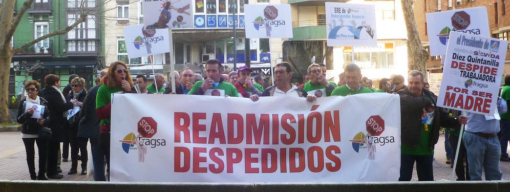 Trabajadores de Tragsa se manifiestan en Santander