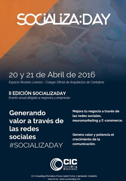 """Santander acoge una nueva edición de """"Socializaday"""""""