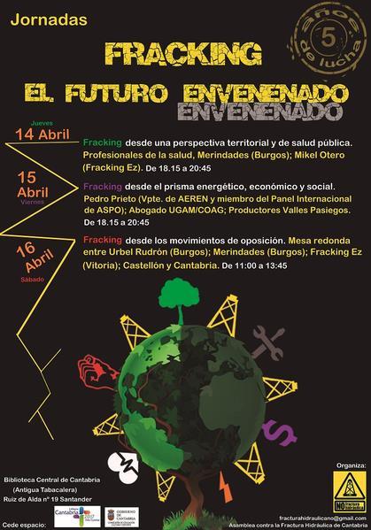"""La Biblioteca Central de Cantabria acoge las jornadas """"Fracking, el futuro envenenado"""""""