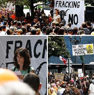 Manifestaciones contra el 'fracking' (Archivo CANTABRIA DIARIO)