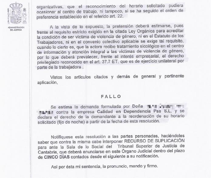 Varapalo judicial a la Residencia Virgen de Valencia por vulnerar derechos a una trabajadora víctima de violencia de género