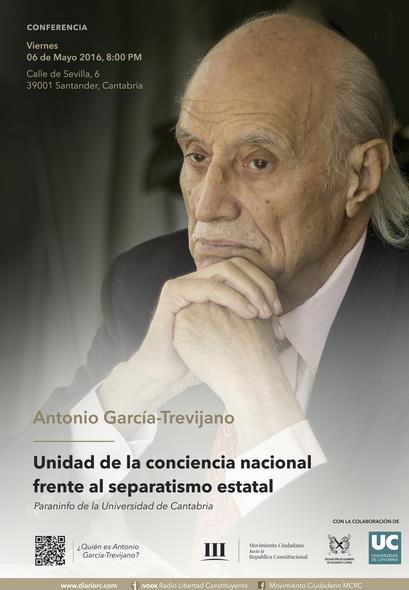 Antonio García Trevijano, fundador de la Junta Democrática de España en 1974, dará una conferencia