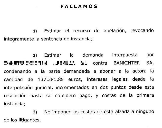 Bankinter, condenada a indemnizar con 137.000 euros a un promotor inmobiliario que invirtió en preferentes