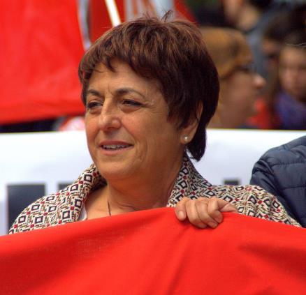 María Jesús Cedrún, durante la manifestación del 1 de mayo en Santander / CANTABRIA DIARIO