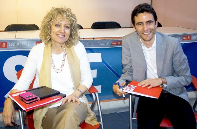 Rosa Eva Díaz Tezanos y Pedro Casares (PSOE Cantabria)