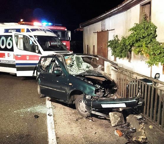 Un joven herido grave en Val de San Vicente