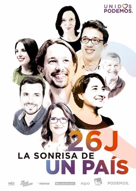 Cartel electoral de Unidos Podemos