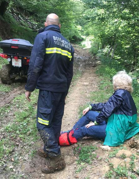 Rescatada una mujer en una zona de montaña de Campoo de Yuso