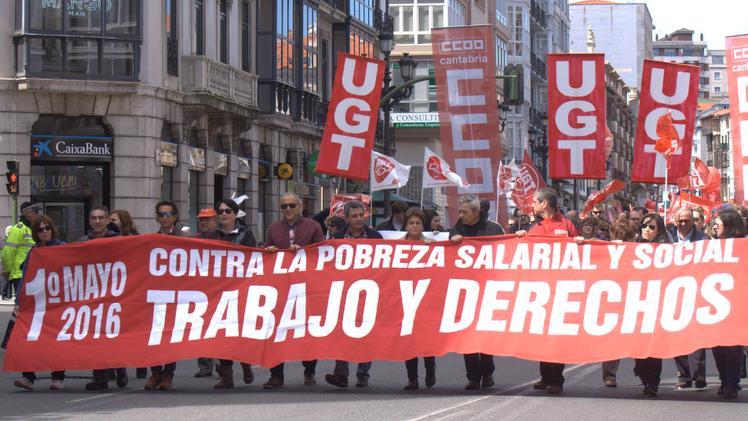 Manifestación del 1 de mayo de 2016 en Santander / Foto: archivo CANTABRIA DIARIO
