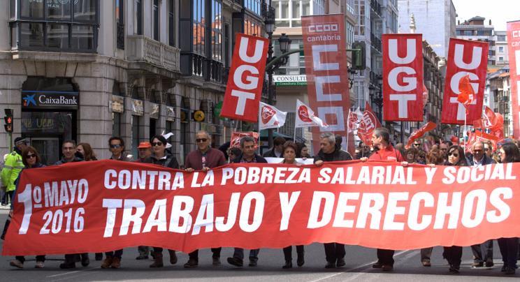 Manifestación del 1 de mayo de 2016 en Santander