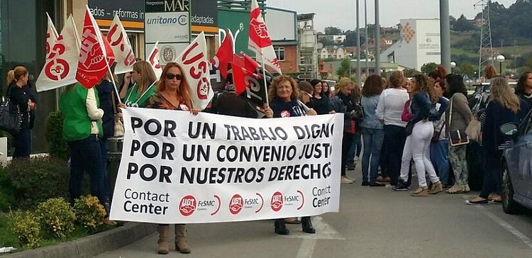 Más de un 40% de los trabajadores del telemarketing secunda en Cantabria los paros por el nuevo convenio