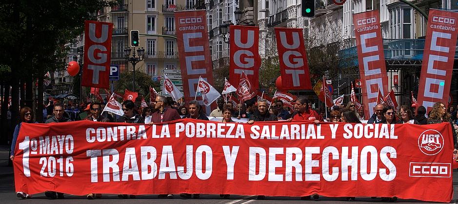 Manifestación del 1 de mayo en Santander / Foto: archivo CANTABRIADIARIO.COM