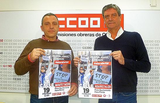 UGT y CCOO convocan el domingo en Santander una manifestación por los empleos y los salarios dignos
