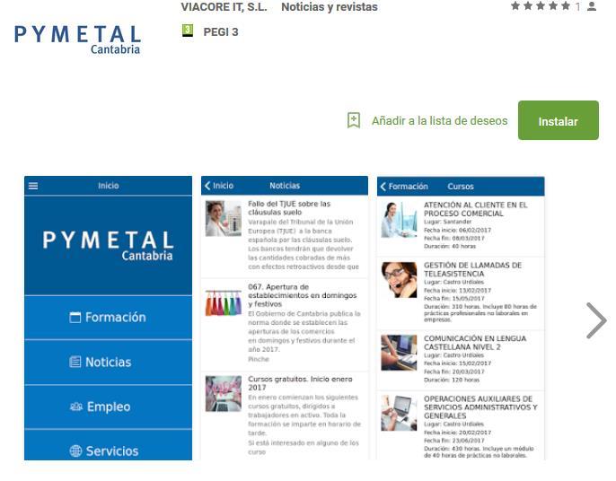 """Pymetal lanza una """"app"""" con información del sector en Cantabria"""