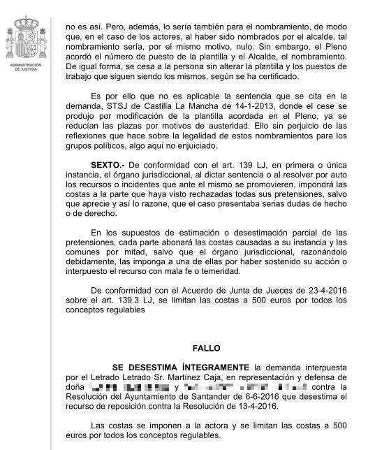 El juez confirma el cese del personal de confianza que designó el exconcejal de Ganemos Antonio Mantecón