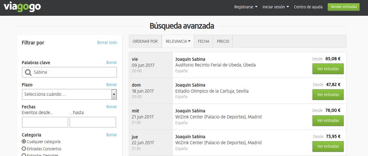 El «caso Sabina contra Viagogo» destapa la existencia de negocios tecnológicos que bordean la legalidad