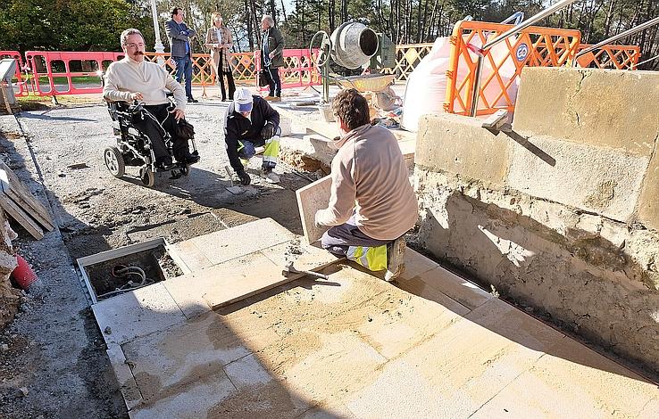 Se inicia la construcción de una nueva rampa de acceso al Palacio de la Magdalena
