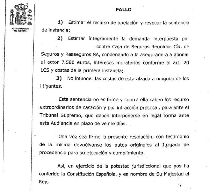 Seguros Caser deberá indemnizar a la familia de un asegurado que falleció de cirrosis hepática