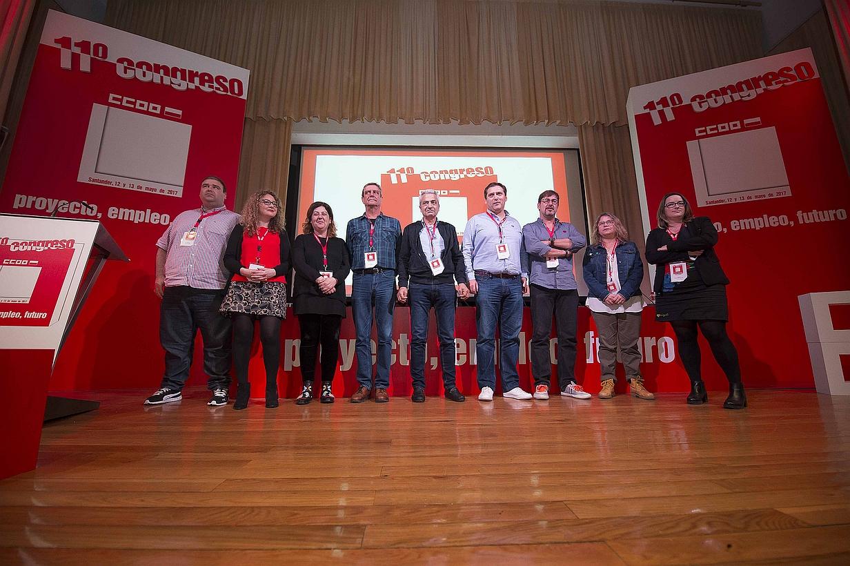 Carlos Sánchez reelegido secretario general de CCOO Cantabria en el XI Congreso del sindicato