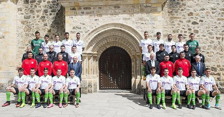 Foto oficial Racing de Santander en el Monasterio de Santo Toribio
