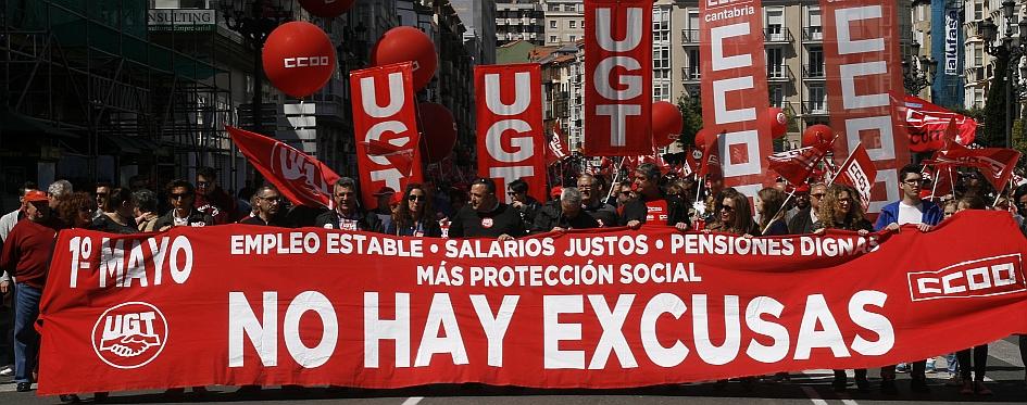 Manifestación del 1 de mayo de 2017 en Santander - (C) CANTABRIA DIARIO - David Laguillo